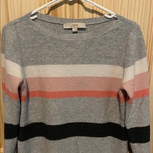 Loft boatneck long-sleeved sweater